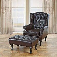 ZeoTioo Ohrensessel Relaxsessel Sessel Kunstleder