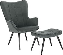 ZeoTioo Relaxsessel mit Hocker Lehnstühle Sessel