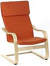 ZeoTioo Relaxsessel, Schwingsessel, Sessel, Orange