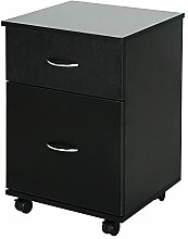 ZeoTioo Rollcontainer Kommode Schubladenschrank