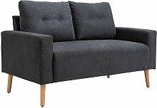 ZeoTioo Sofa 2-Sitzer Relaxsessel mit Armlehne im
