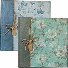 Zep GD323250B Fotoalbum Garden, zum Einkleben, Blau