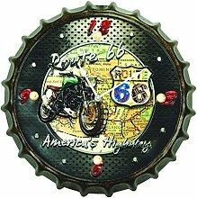Zep YY226Alabama Design Wanduhr, Bierdeckel,