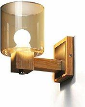 ZEQUAN Wandlampe Holz Wandlampe Schlafzimmer
