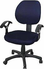 zerci Sessel Sets of Office abnehmbarer Bezug Stuhl, Strechhusse Tuch Stuhl Pads Stretch Kissen, Color 6, Without Armrest Cover