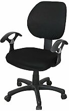 zerci Sessel Sets of Office abnehmbarer Bezug Stuhl, Strechhusse Tuch Stuhl Pads Stretch Kissen, Color 8, Without Armrest Cover