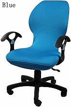 zerci Strechhusse Tuch Stuhl, abnehmbarer Bezug Pads Stretch Kissen federnden Stoff Bürostuhl, Color 4, Einheitsgröße