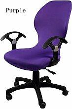 zerci Strechhusse Tuch Stuhl, abnehmbarer Bezug Pads Stretch Kissen federnden Stoff Bürostuhl, Color 12, Einheitsgröße