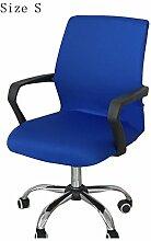 zerci Strechhusse Tuch Stuhl, abnehmbarer Bezug Pads Stretch Kissen federnden Stoff Bürostuhl, Color 4, S