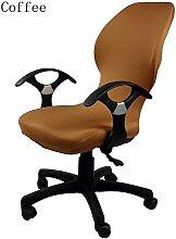 zerci Strechhusse Tuch Stuhl, abnehmbarer Bezug Pads Stretch Kissen federnden Stoff Bürostuhl, Color 18, Einheitsgröße