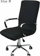 zerci Strechhusse Tuch Stuhl, abnehmbarer Bezug Pads Stretch Kissen federnden Stoff Bürostuhl, Color 5, M