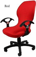 zerci Strechhusse Tuch Stuhl, abnehmbarer Bezug Pads Stretch Kissen federnden Stoff Bürostuhl, Color 3, Einheitsgröße