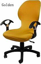 zerci Strechhusse Tuch Stuhl, abnehmbarer Bezug Pads Stretch Kissen federnden Stoff Bürostuhl, Color 19, Einheitsgröße