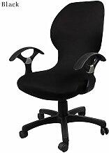 zerci Strechhusse Tuch Stuhl, abnehmbarer Bezug Pads Stretch Kissen federnden Stoff Bürostuhl, Color 9, Einheitsgröße