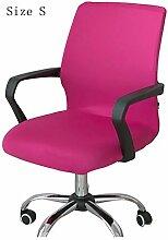 zerci Strechhusse Tuch Stuhl, abnehmbarer Bezug Pads Stretch Kissen federnden Stoff Bürostuhl, Color 3, S