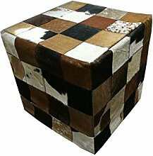 Zerimar kuhfell puff Maßnahmen: 45x45 cms Würfel Hocker | Puff Sitz | Banken | Deco bank