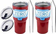 Zero Degree Edelstahl-Becher mit Deckel,