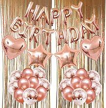 ZERODECO Geburtstagsfeier Dekoration, Happy