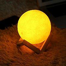 Zerodis Nachtlicht LED 3D Moon Lampe warme und
