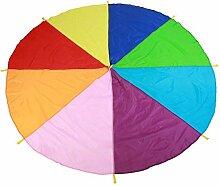 Zerodis Schwungtuch Regenbogen Fallschirm Kinder