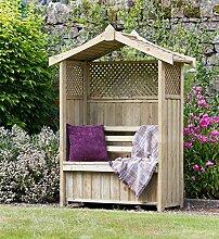 zest4leisure Dorset Gartenlaube mit Aufbewahrungsbox–Holz