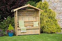 Zest4Leisure Gartenlaube Hampshire mit Aufbewahrungsbox, ausHolz