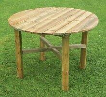 zest4leisure rund Abbey Tisch–Holz