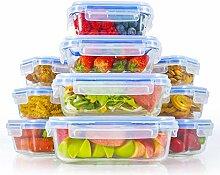 Zestkit Glas Frischhaltedosen Set aus 10er