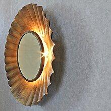 ZEUS Antik Kupfer Sunburst Strahlen Licht Wandspiegel mir-8