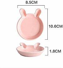ZFDM Cute Cartoon Keramik Kindergeschirr Essteller