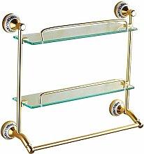 ZFFSC Lotion & Seifenspender Badezimmer Regal