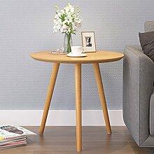 ZfgG Couchtisch Holz Runde Niedriger Tisch Mobile