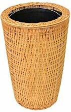 Zfggd Bambus und Rattan gewebt Mülleimer, Heim