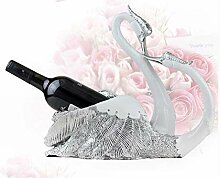 Zfggd Kreative Weinregale Ornament Paare Swan