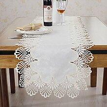 Zfggd Spitze Tischläufer für Hochzeit Festival