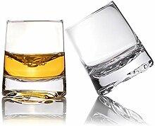 Zfitei Whiskey-Gläser, geriffelt, mundgeblasene