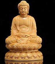 ZFLL Buddha Hölzerne Buddha Statue Figuren Buda
