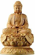ZFLL Buddha Hölzerne Sakyamuni Buddha Figuren