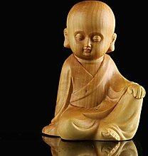 ZFLL Buddha Lobular Massivholz Glatze Mönch Zen