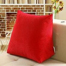 ZGB's Spring Heimtextilien Nachttisch Rückenlehne Dreieck Kissen Einfache Lendenwirbel Kissen Kissen ( Farbe : Rot )