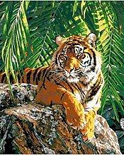 ZGHBJ DIY Digitale Malerei Tiger Werkzeuge