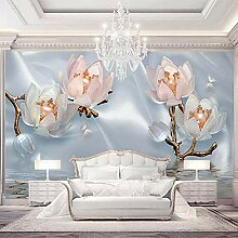 Zghnzk 3D Wallpaper Moderne Blumen Schmuck