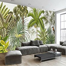 Zghnzk 3D Wandbild Tapete Tropische Pflanze Grüne