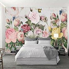 Zghnzk Fototapete 3D Blumen Wandbilder