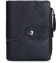 ZGJQ Männer Kurze Brieftasche Leder