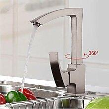 Zglizty Nickel Gebürstet Küchenarmaturen Wasser