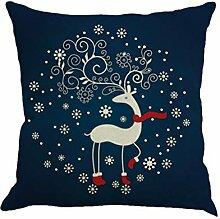 ZGMWXW@ 2 Stück Weihnachten Kissenbezug 45x45cm