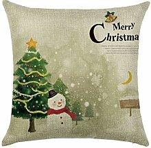 ZGMWXW@ 2er Set Weihnachten Baumwolle Leinen