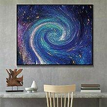ZGWXP77 Sternenhimmel Kunst auf Leinwand Poster