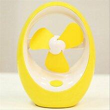 ZH Usb-Fan, Kreativer Sommer Usb-Lüfter , Yellow,yellow